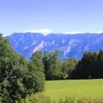 Blick vom Balkon auf den Untersberg